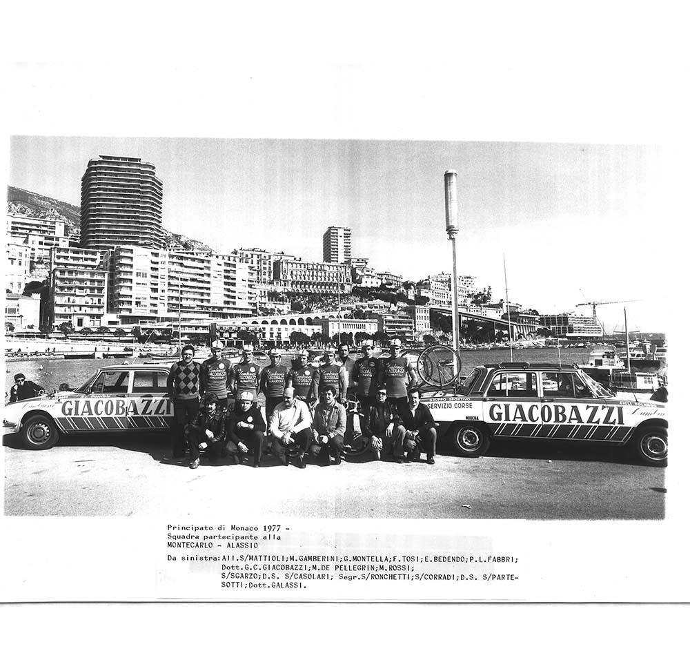 Montecarlo-Alasso, Monaco 1977 squadra ciclistica sponsorizzata Giacobazzi